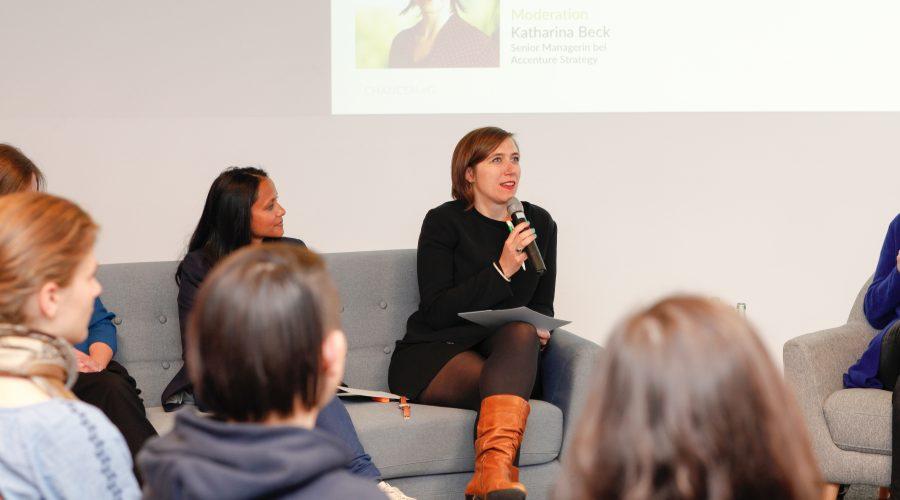 Aufsichtsrätin Katharina Beck moderierte die Podiumsdiskussion