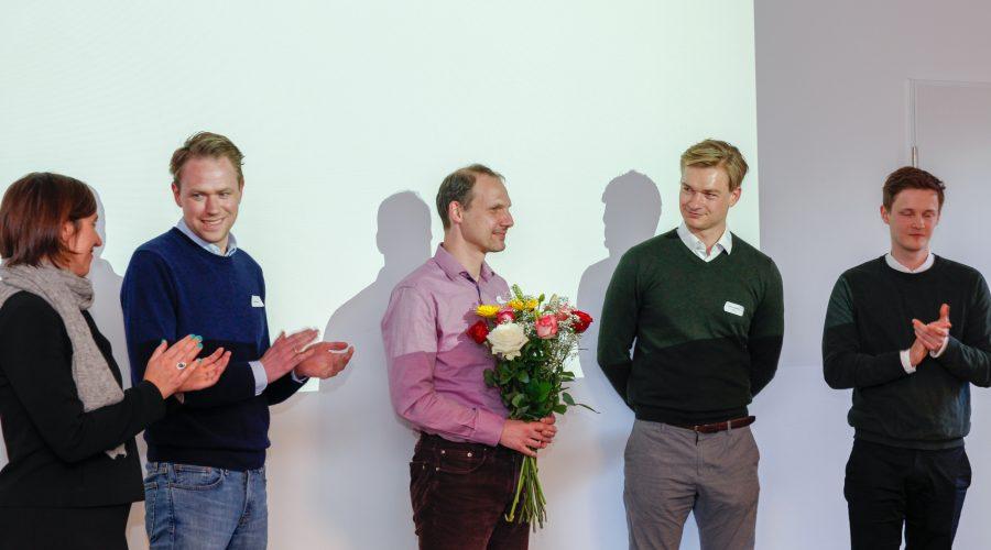 founders thanking Joachim Rang