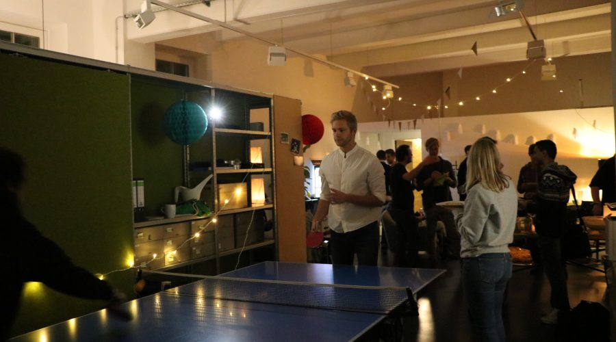 The table tennis offered fun and diversion…